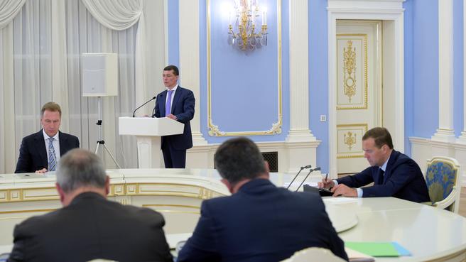 Доклад Максима Топилина на заседании Правительстыва