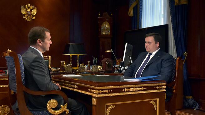 Встреча с генеральным директором Агентства стратегических инициатив Андреем Никитиным
