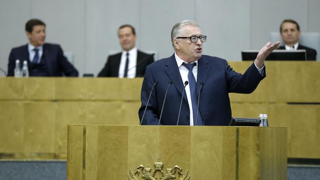 Выступление руководителя фракции политической партии «Либерально-демократическая партия России» Владимира Жириновского
