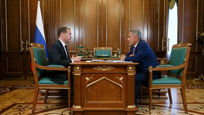 Встреча с президентом Республики Татарстан Рустамом Миннихановым