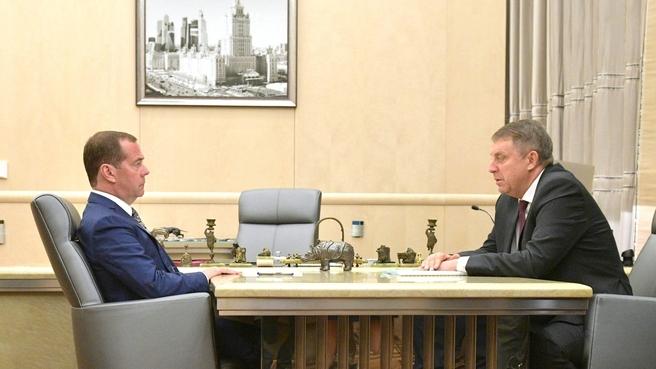 Встреча с губернатором Брянской области Александром Богомазом