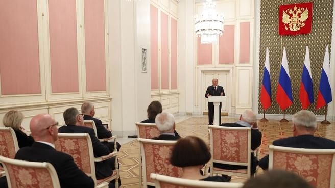 Выступление Михаила Мишустина на вручении премий Правительства за 2019 год в области культуры