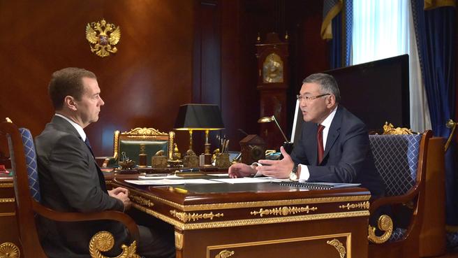Встреча с главой Республики Калмыкия Алексеем Орловым