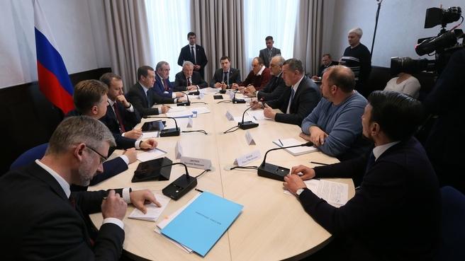 Встреча с представителями малого и среднего бизнеса в сфере автоперевозок
