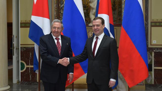 Встреча с Председателем Госсовета и Совета Министров Республики Куба Раулем Кастро