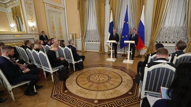 Пресс-конференция по итогам российско-финляндских переговоров