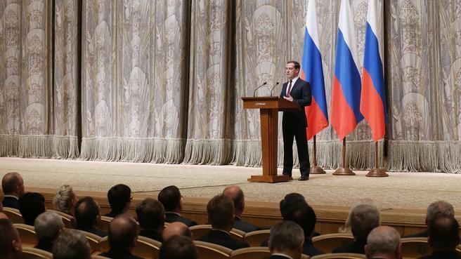 Выступление на церемонии вручения премий Правительства в области науки и техники