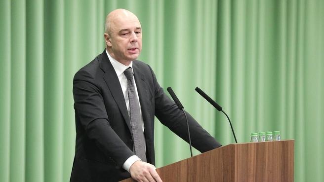 Выступление  Антона Силуанова на парламентских слушаниях