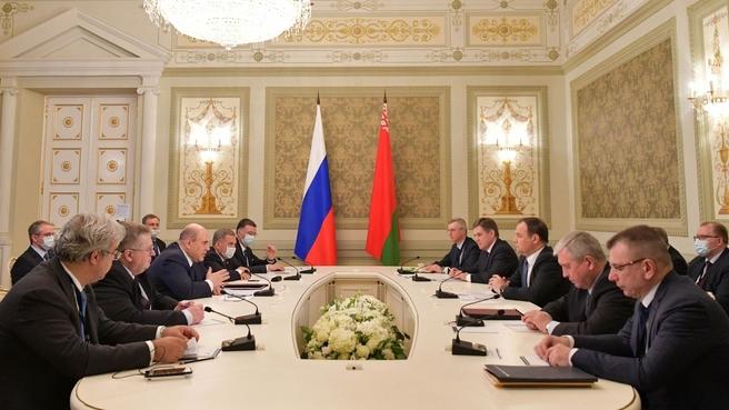 Беседа Михаила Мишустина с Премьер-министром Республики Беларусь Романом Головченко