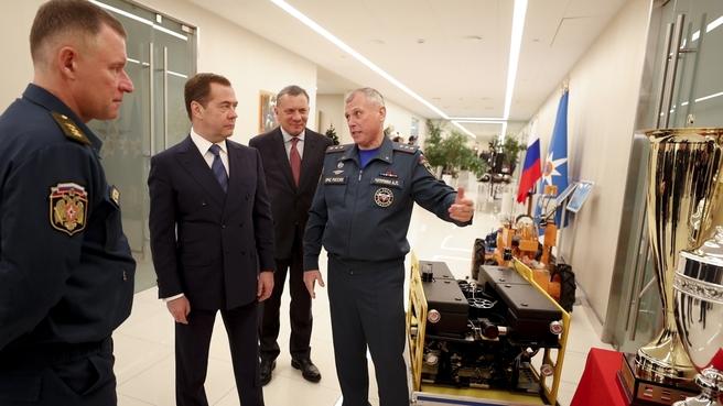 Посещение Национального центра управления в кризисных ситуациях МЧС России