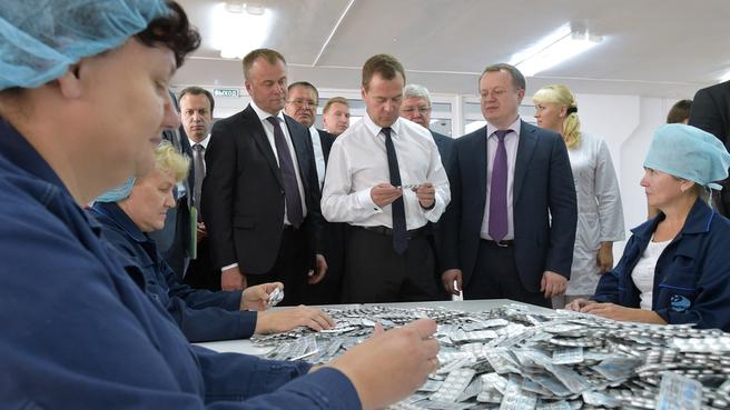 Посещение ОАО «Усолье-Сибирский химико-фармацевтический завод»
