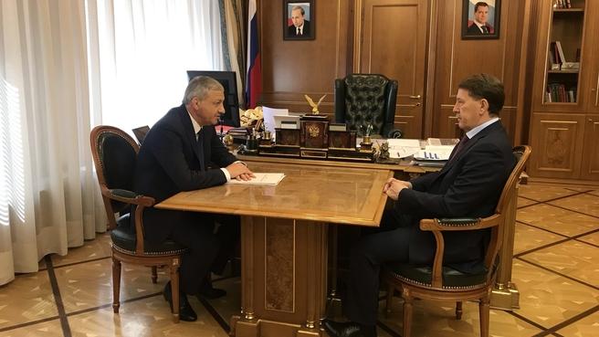 Встреча Алексея Гордеева с главой Республики Северная Осетия – Алания Вячеславом Битаровым