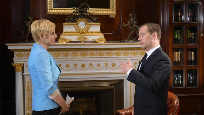 Dmitry Medvedev's interview with Slovenian radio and television company RTV Slovenija