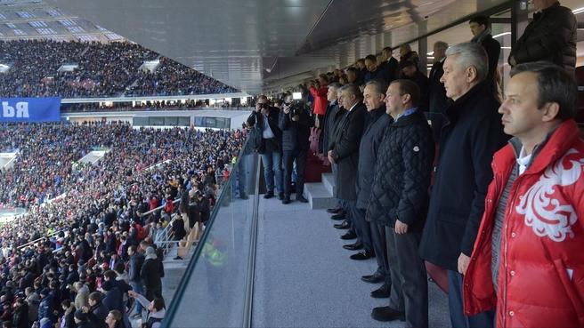 Посещение товарищеского матча по футболу между сборными России и Аргентины