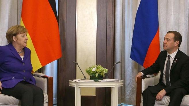 Встреча с Федеральным канцлером Федеративной Республики Германия Ангелой Меркель