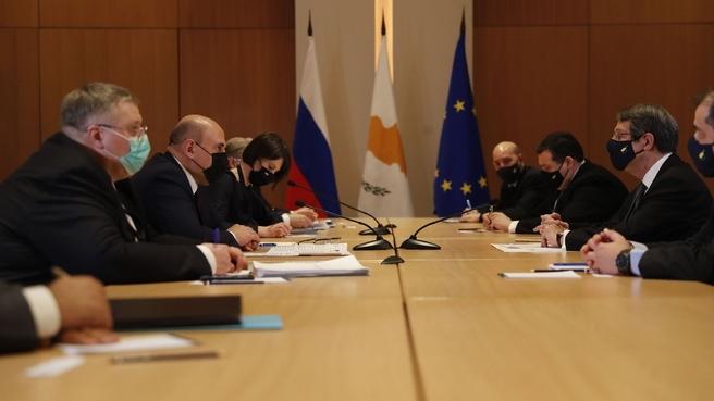 Встреча с Президентом Кипра Никосом Анастасиадисом