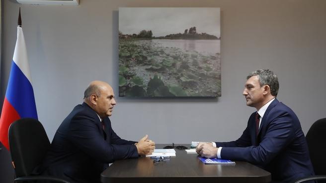 Встреча с губернатором Амурской области Василием Орловым
