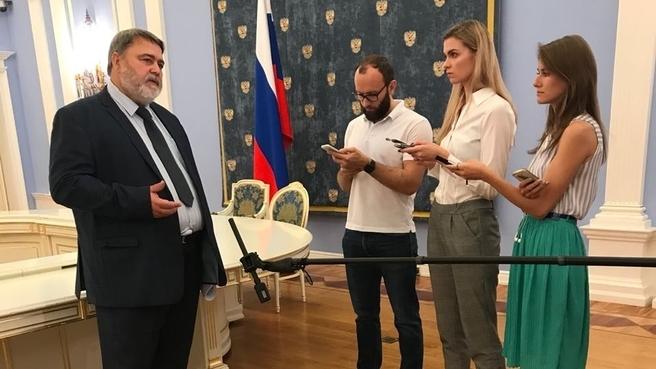 Брифинг руководителя Федеральной антимонопольной службы Игоря Артемьева по завершении заседания Правительства 30 августа 2018 года