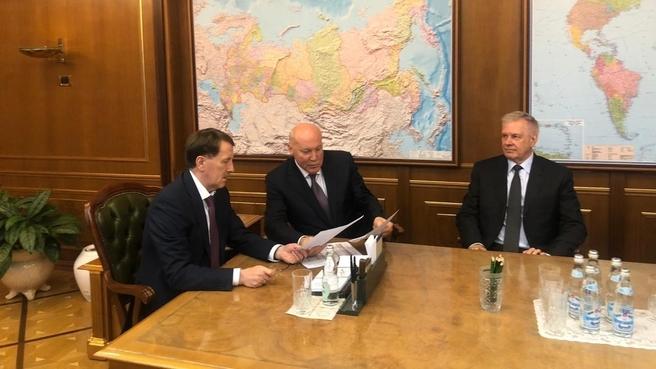 Встреча Алексея Гордеева с Послом России в Республике Беларусь Дмитрием Мезенцевым