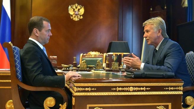 Встреча с председателем правления ПАО «Новатэк» Леонидом Михельсоном