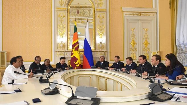 Dmitry Medvedev's meeting with President of Sri Lanka Maithripala Sirisena