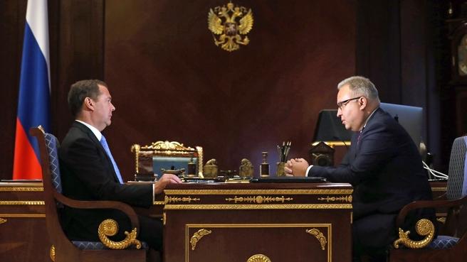 Встреча с председателем правления ПАО «Федеральная сетевая компания Единой энергетической системы» Андреем Муровым