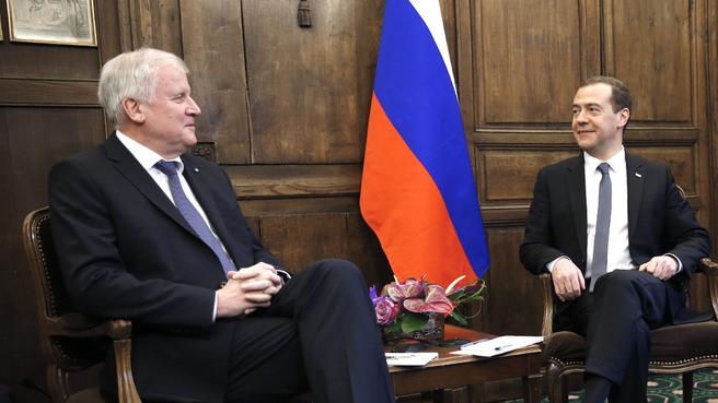 Беседа с премьер-министром Баварии Хорстом Зеехофером