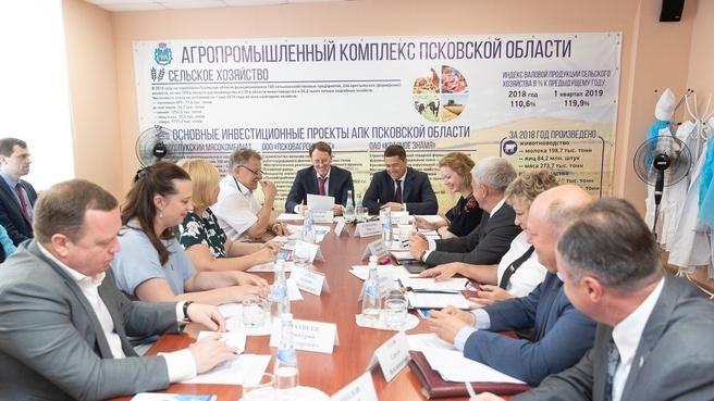Посещение Псковского городского молочного завода