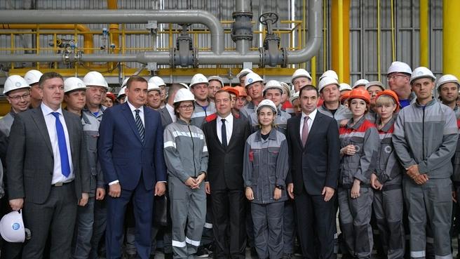 Посещение металлургического завода «Тула-Сталь». С работниками предприятия