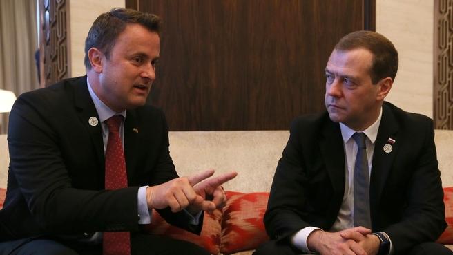 Встреча с Премьер-министром Великого Герцогства Люксембург Ксавье Беттелем