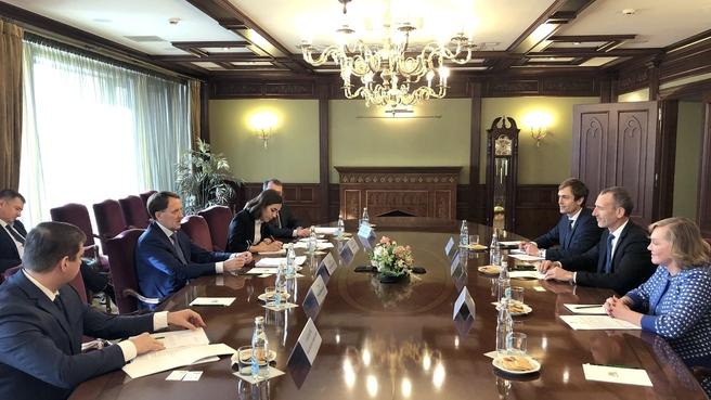Встреча Алексея Гордеева с президентом компании Danone Эммануэлем Фабером
