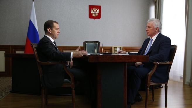 Встреча с главой Республики Бурятия – председателем правительства Республики Бурятия Вячеславом Наговицыным