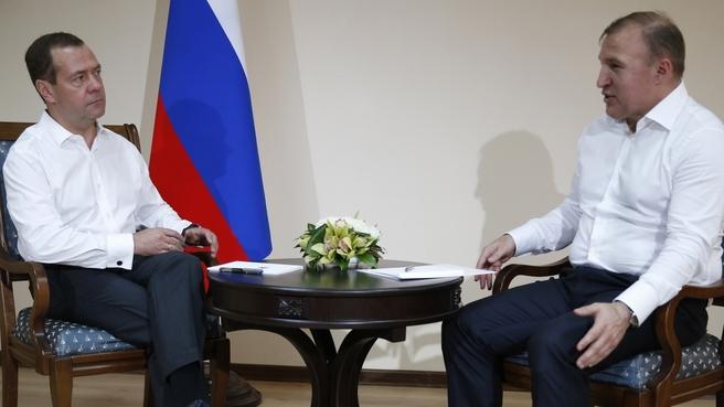 Встреча с главой Республики Адыгея Муратом Кумпиловым