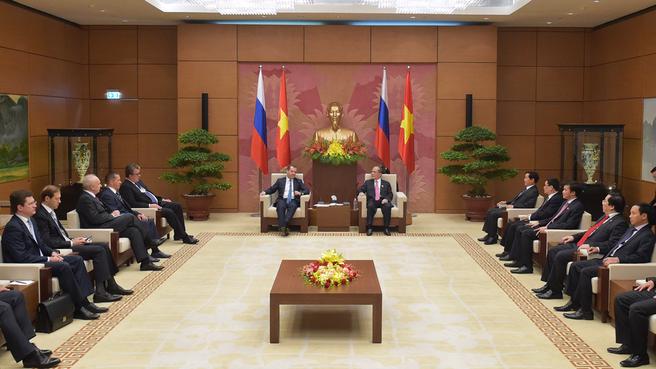 Беседа с Председателем Национального собрания Вьетнама Нгуен Шинь Хунгом