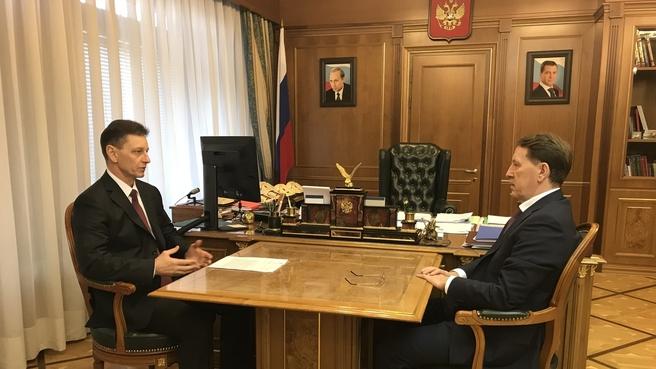 Встреча Алексея Гордеева с губернатором Владимирской области области Владимиром Сипягиным