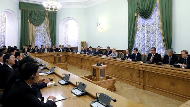 Российско-китайские переговоры в участием делегаций в расширенном составе