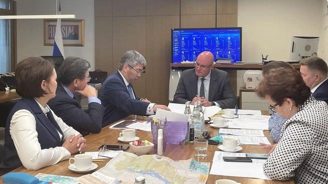 Встреча Дмитрия Чернышенко с главой Республики Бурятия Алексеем Цыденовым