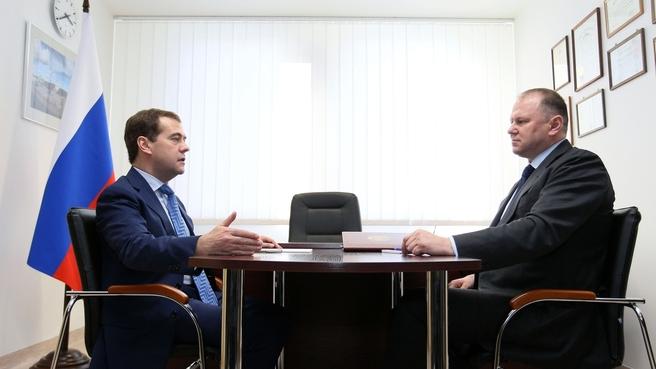 Рабочая встреча с губернатором Калининградской области Николаем Цукановым