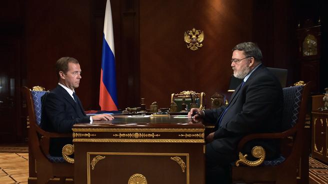 Рабочая встреча с руководителем Федеральной антимонопольной службы Игорем Артемьевым