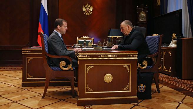 Встреча с губернатором Новгородской области Сергеем Митиным