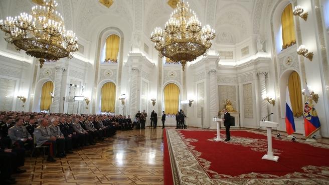 Встреча Президента России с военнослужащими Вооруженных Сил