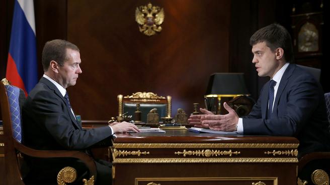Встреча с руководителем Федерального агентства научных организаций Михаилом Котюковым