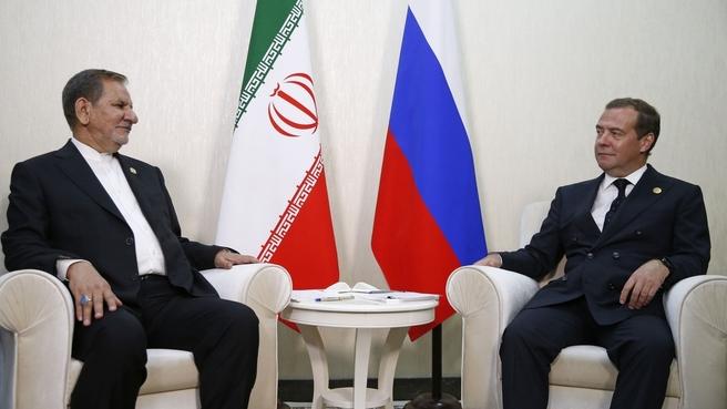 Встреча с Первым вице-президентом Исламской Республики Иран Эсхаком Джахангири