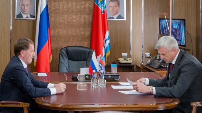 Встреча Алексея Гордеева  с губернатором Магаданской области Сергеем Носовым