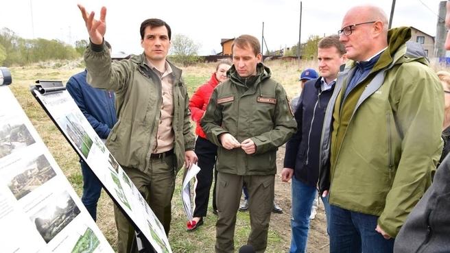 Дмитрий Чернышенко осмотрел действующий аэропортовый комплекс «Елизово»