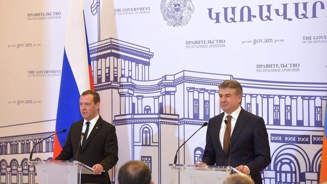 Пресс-конференция Дмитрия Медведева и Карена Карапетяна