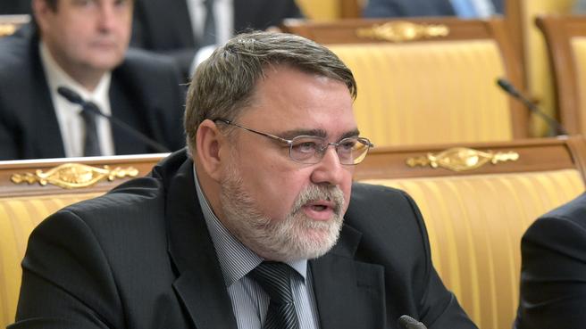 Сообщение руководителя Федеральной антимонопольной службы Игоря Артемьева на заседании Правительства