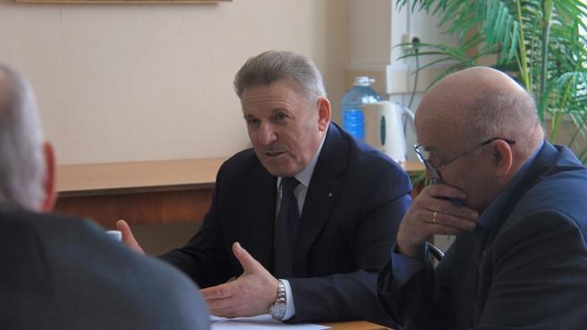 Совещание о диверсификации организаций ОПК под председательством члена коллегии Военно-промышленной комиссии Вячеслава Шпорта