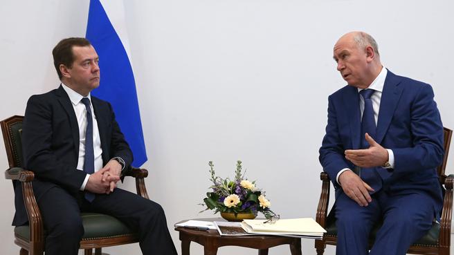 Рабочая встреча с губернатором Самарской области Николаем Меркушкиным