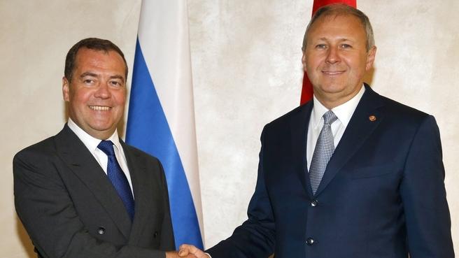 C Премьер-министром Белоруссии Сергеем Румасом